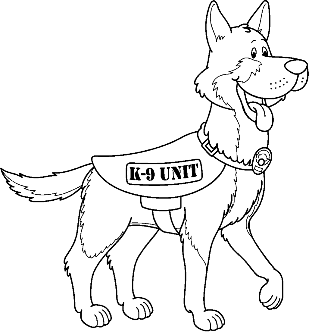 1026x1102 Drawn German Shepherd Police Dog