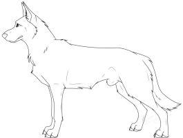 265x200 Drawn Pitbull German Shepherd