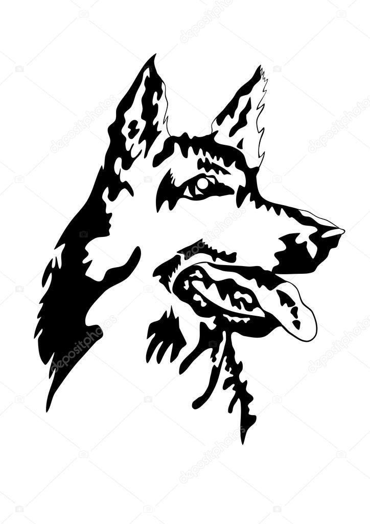 724x1024 German Shepherd Stock Vectors, Royalty Free German Shepherd