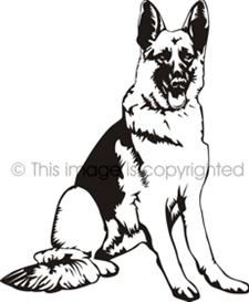 225x273 Police German Shepherd Clipart