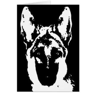 324x324 White German Shepherd Greeting Cards Zazzle Uk