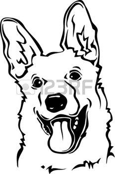 Kleurplaten Honden Duitse Herder.The Best Free Illustratie Drawing Images Download From 7