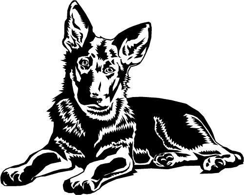 500x400 61 Best Silhouettes Images On German Shepherd Puppies