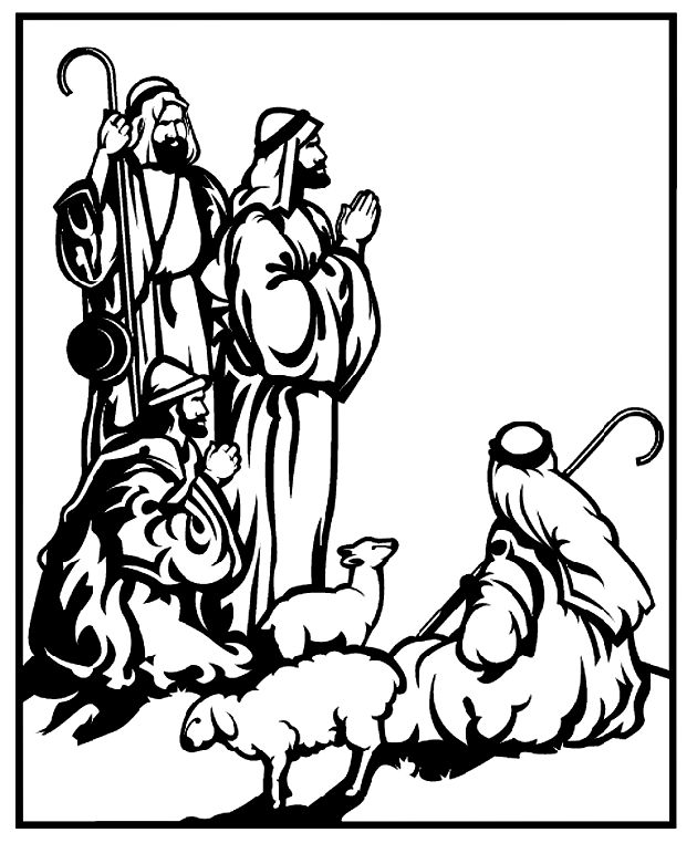 630x762 Ancient Shepherd Coloring Pages Nativity Coloring Pages