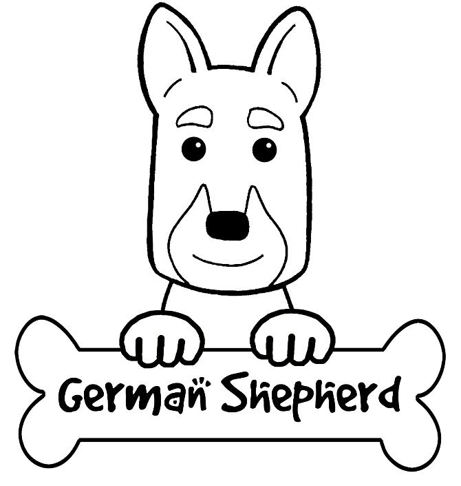 German Shepherd Puppy Drawing at GetDrawings | Free download