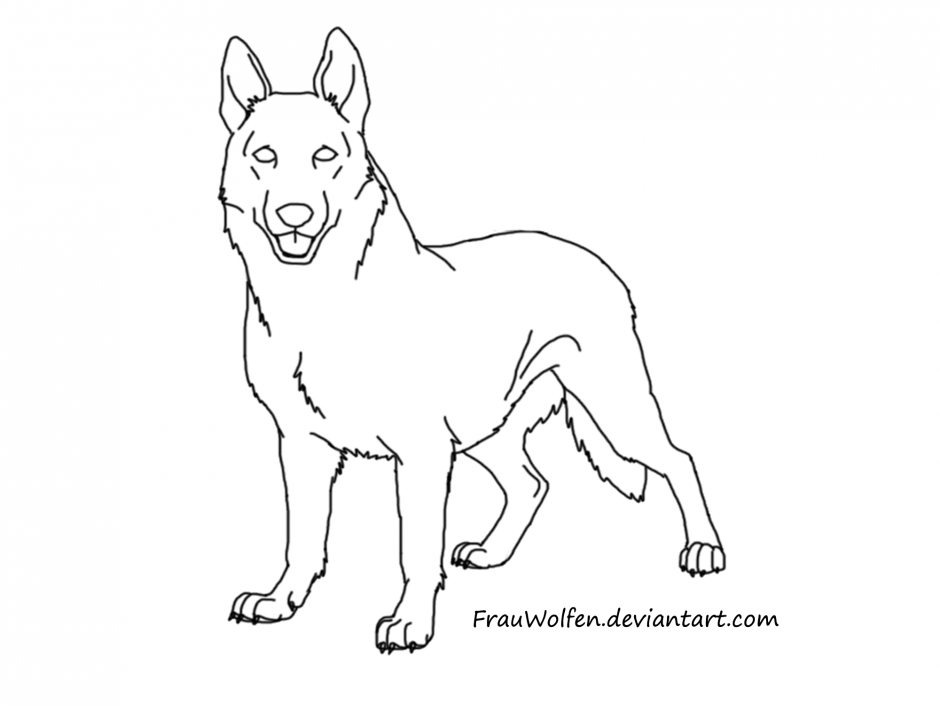 940x705 german shepherd coloring pages free german shepherd coloring pages - German Shepherd Coloring Pages Free 3