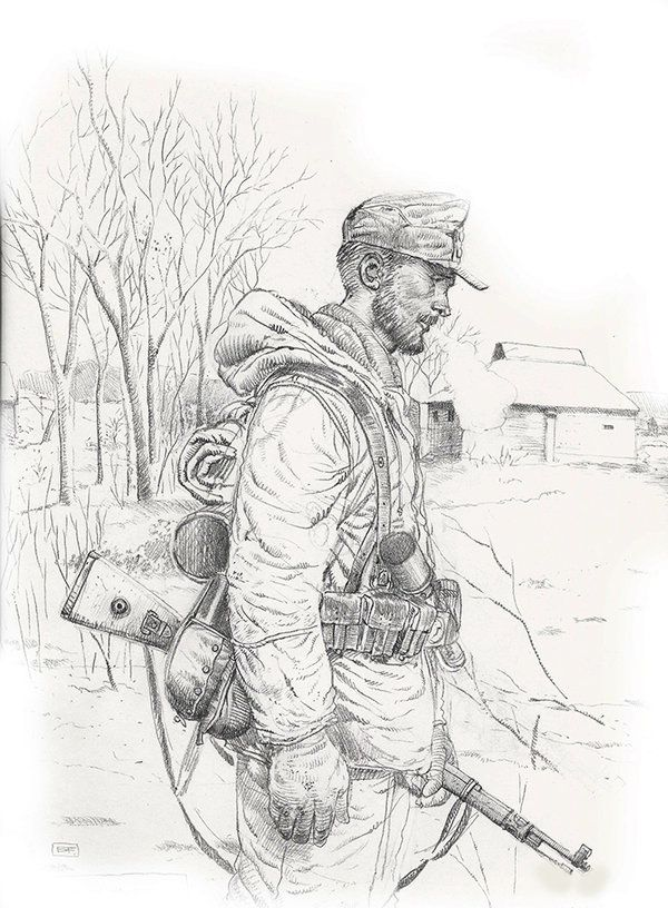 German Soldier Drawing