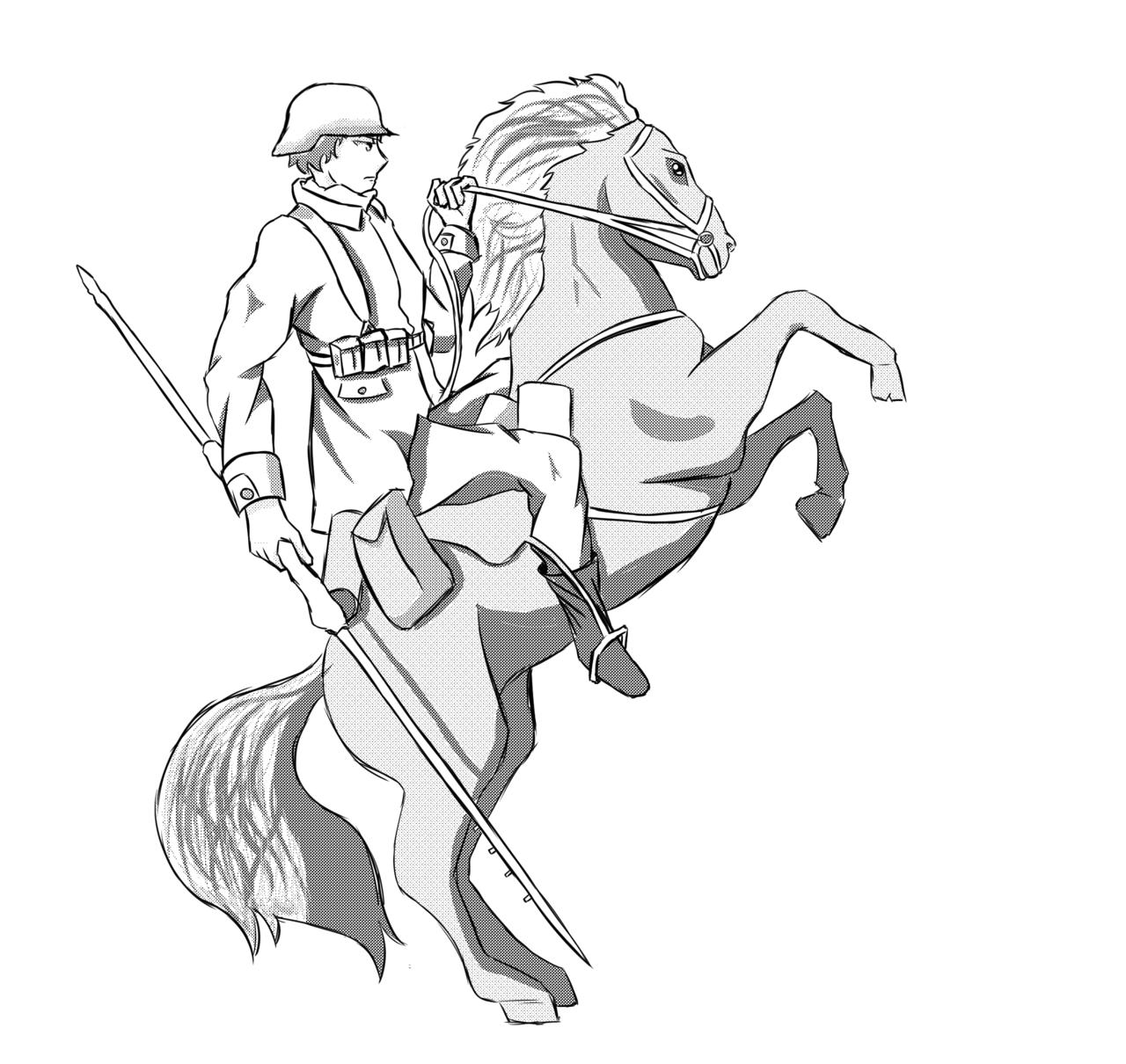 1280x1210 German Soldier Horse 1 By Ilijathesniper