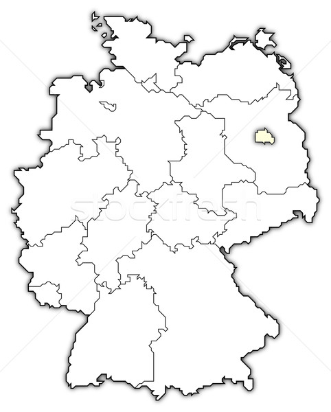 482x600 Map Of Germany, Berlin Highlighted Stock Photo © Steffen Hammer