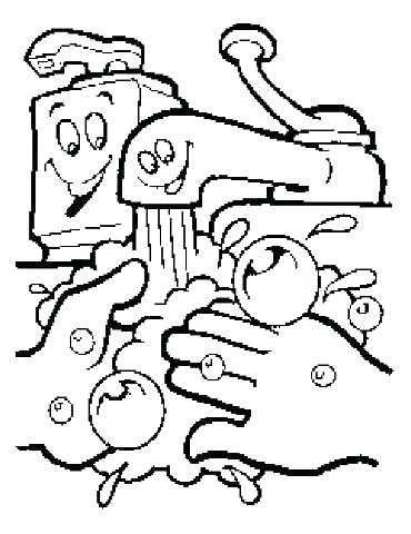 370x480 Bacteria Coloring Pages No More Spreading Germs Coloring Pages