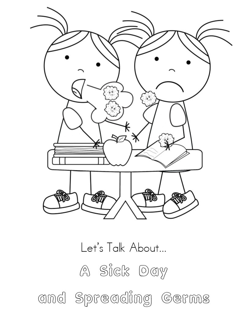 807x1046 Coloring Pages Sick Child New No More Spreading Germs Coloring