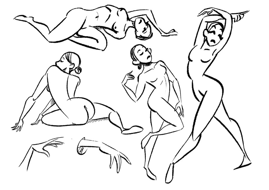 1024x724 Gesture Drawing Exercise By Martenitza