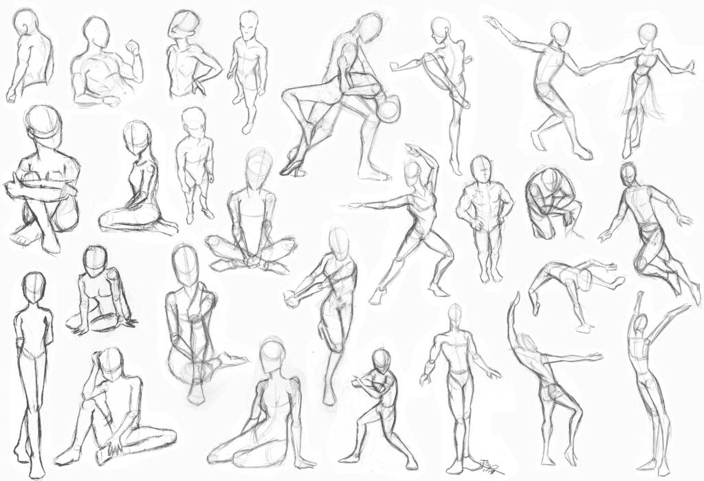 1024x700 Gesture Drawing By Jedipanda22