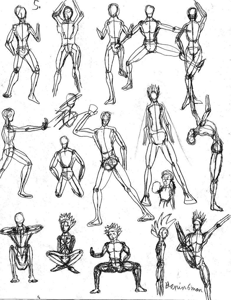 784x1019 Gesture Drawing Practice 5 By Benin6man