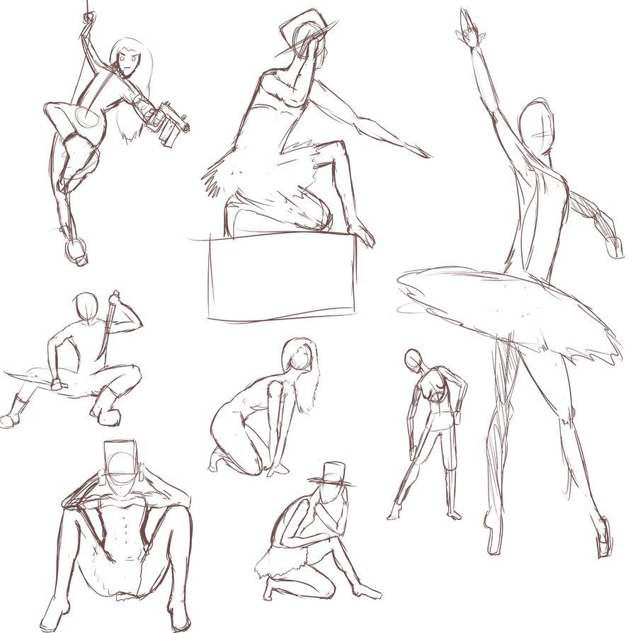 894x894 Gesture Drawing Practice 5 Min Ea By Little Yuri Kun