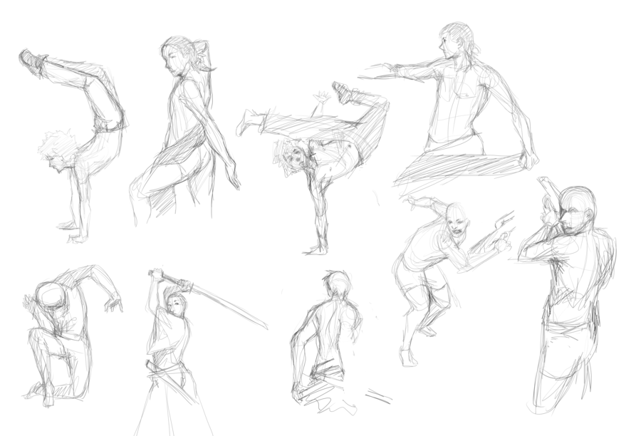 900x612 Gesture Drawing Practice By Kalcedonyx