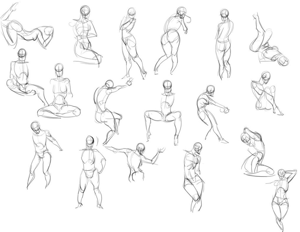 1017x786 Quickposes 20 Minute Gesture Drawing By Tangnamoo