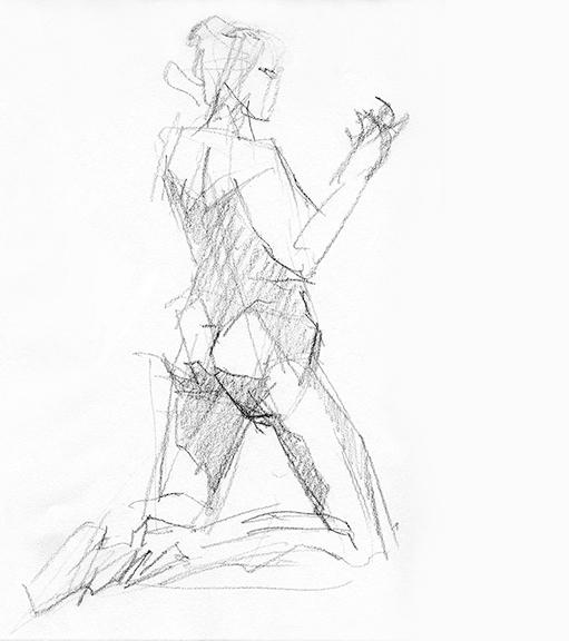 511x576 Figure Drawing Christine Mitzuk Art