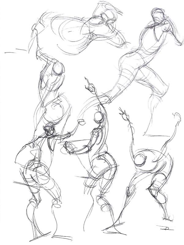 601x799 Gesture Drawing Art Study 3d