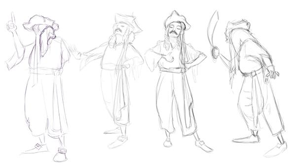 600x340 Pirate Costume Figure Drawings On Massart Portfolios