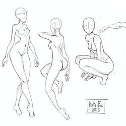 250x250 Scribble Gesture Stick Figure Drawings