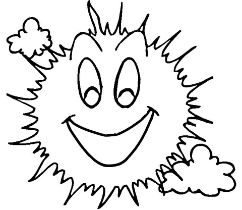 480x416 Smiling Sun Coloring Page Free Printable Coloring Pages