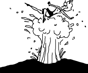 300x250 A Woman Blasted Into The Air By A Geyser.