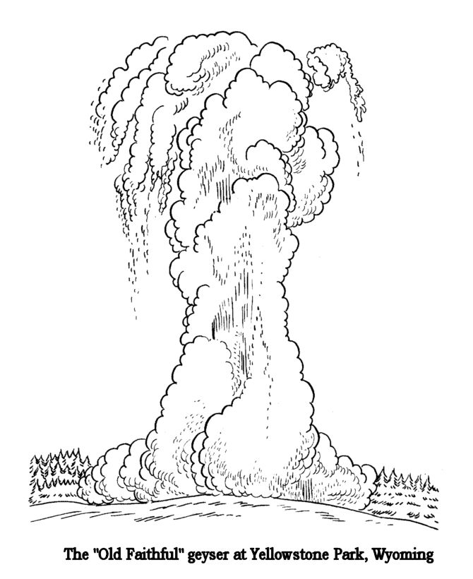 670x820 Yellowstone National Park Coloring Pages