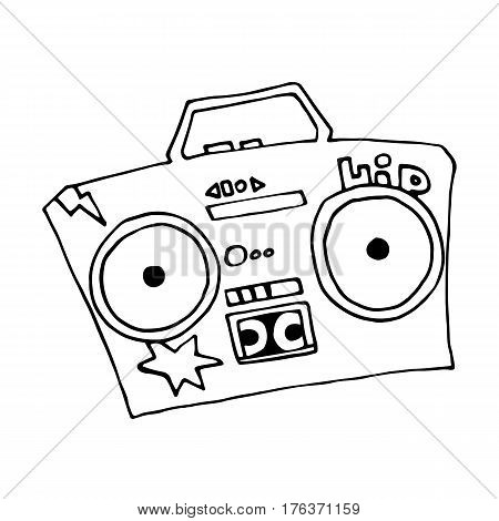 450x470 Ghetto Blaster Boombox Sketch Vector Amp Photo Bigstock