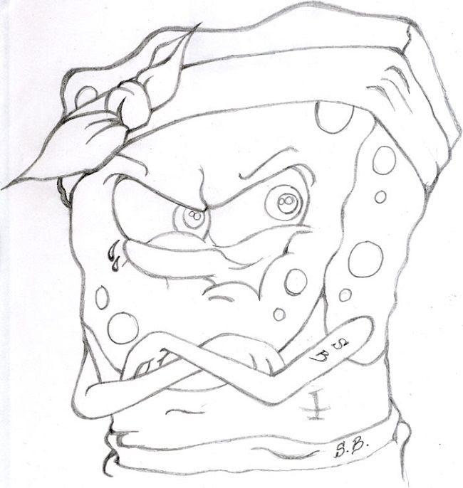 650x686 Gangsta Spongebob Coloring Pages Nicki Minaj Coloring Pages