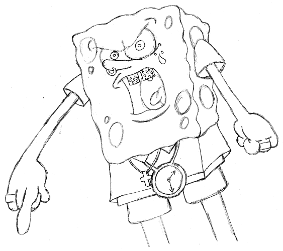 563x500 Gangster Spongebob Cmiv By Scatta