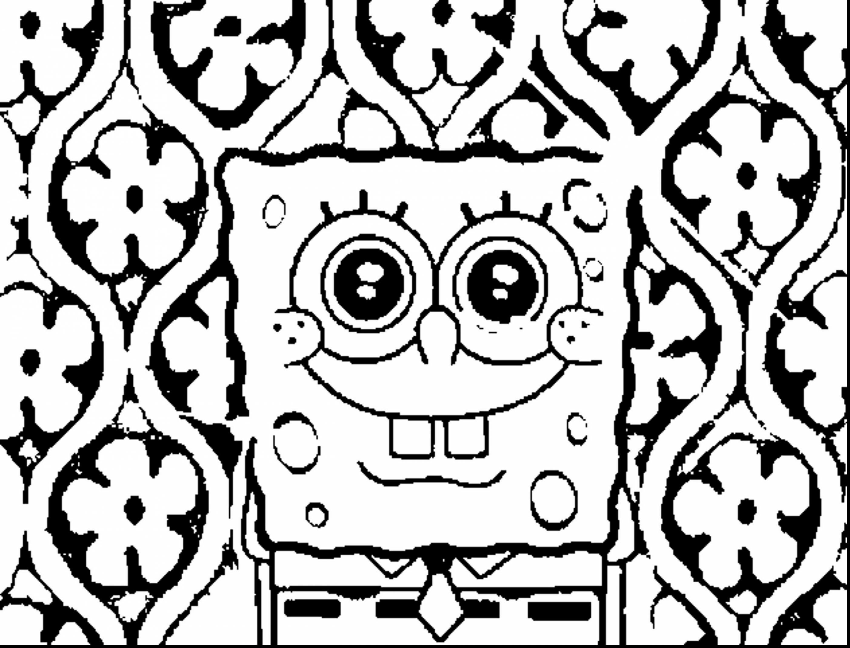 2805x2140 Ghetto Spongebob Coloring Pages