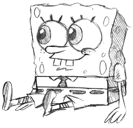 450x434 Spongebob Pencil Sketches Ii By