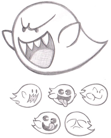 379x471 Boo Ghost (And Boo Buddies) From Super Mario By Detstar