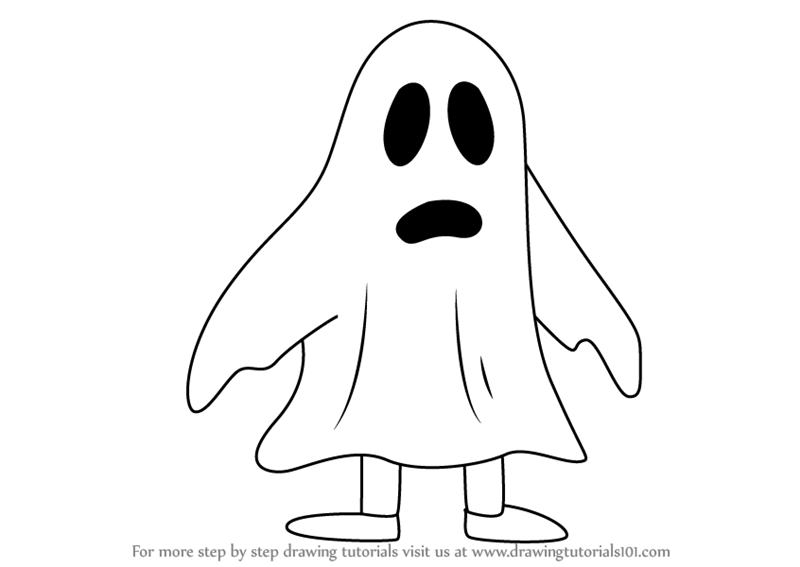 800x567 Learn How To Draw Ghost From Uncle Grandpa (Uncle Grandpa) Step By