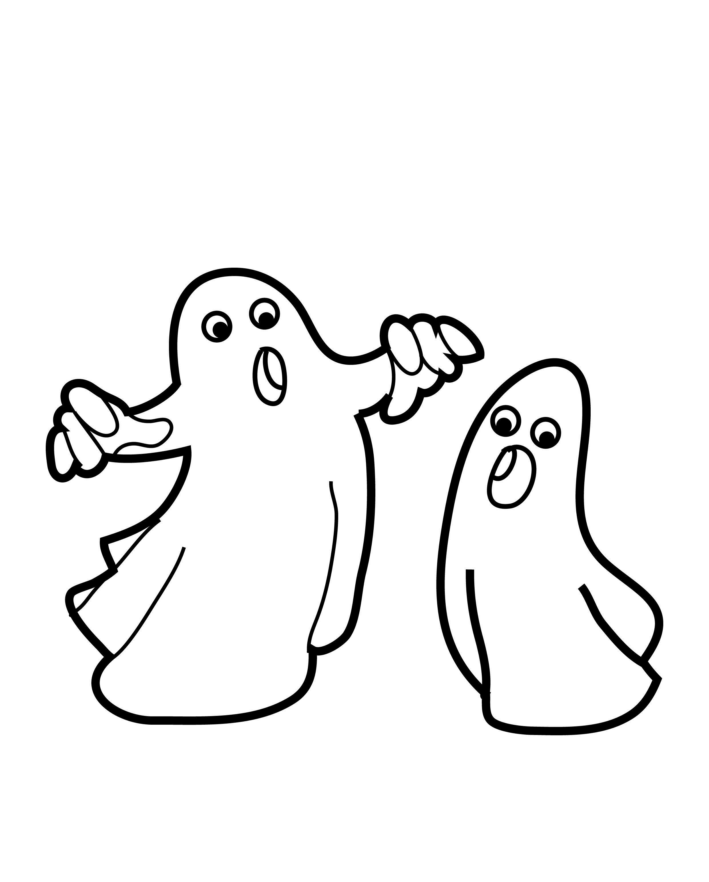 2480x3084 Ghost Coloring Page