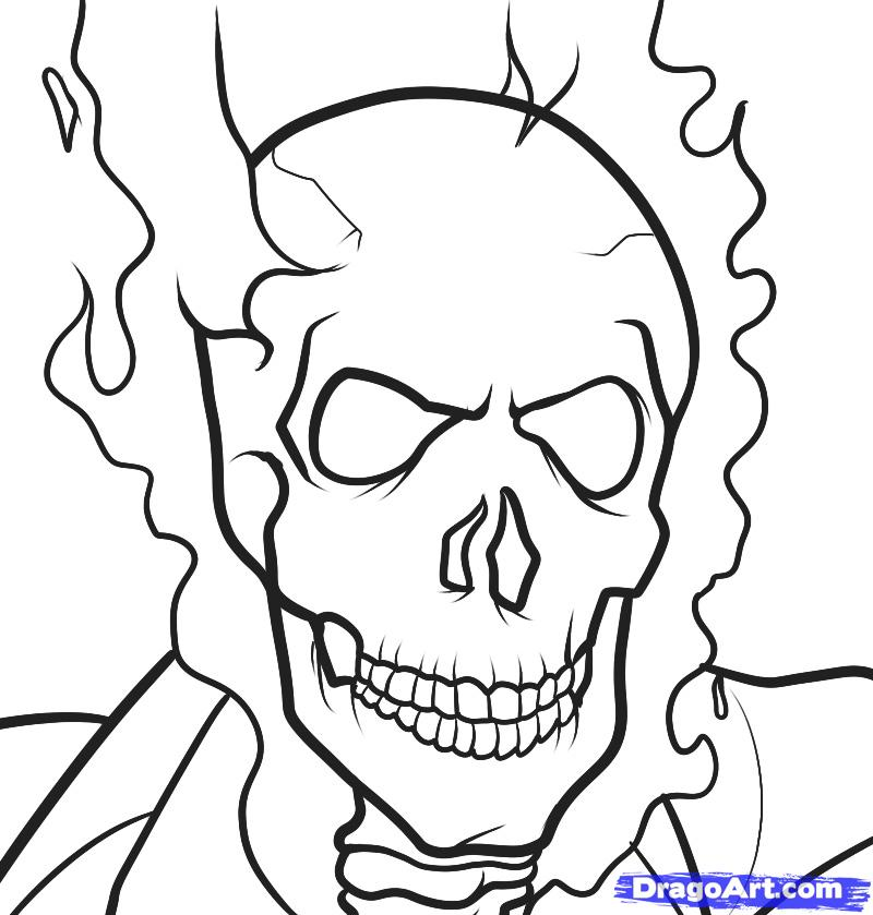 800x839 Ghost Rider Coloring Pages