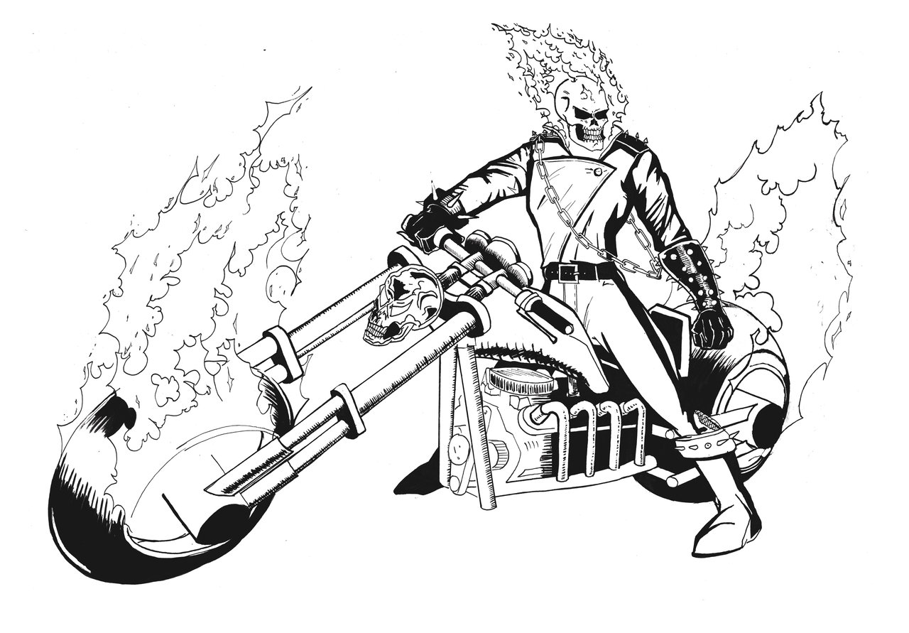 1280x891 Ghost Rider Coloring Pages Printable Coloring Pages For Kids