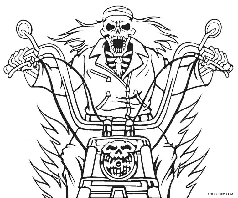 760x633 Ghost Rider Colouring Pages Printable Ghost Coloring Pages