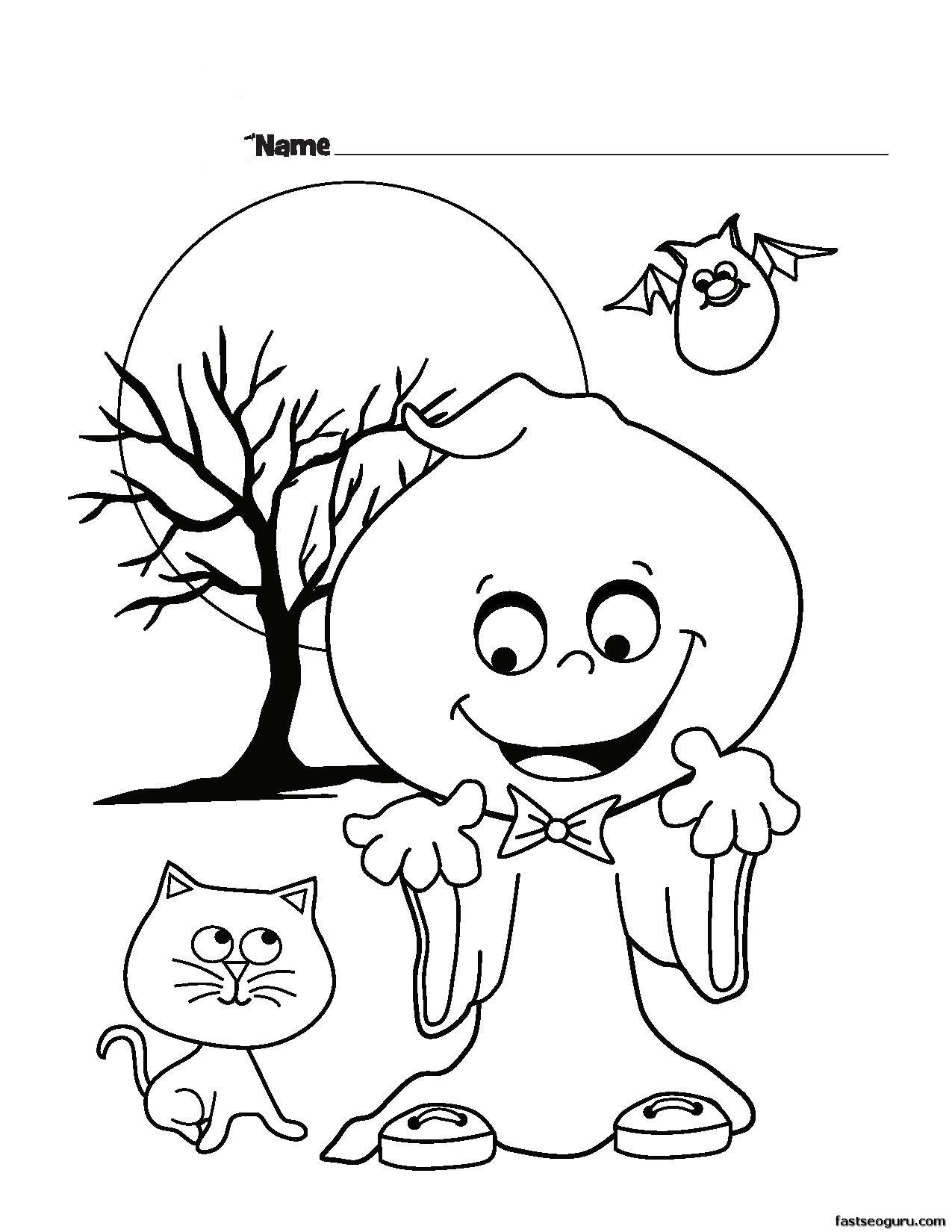 1275x1650 Halloween Funny Ghost Coloring Page For Kids New Ghost Gas Joke