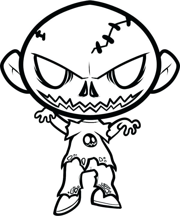 600x718 Complete Scary Coloring Pages New Wonderful Astounding Creepy Best