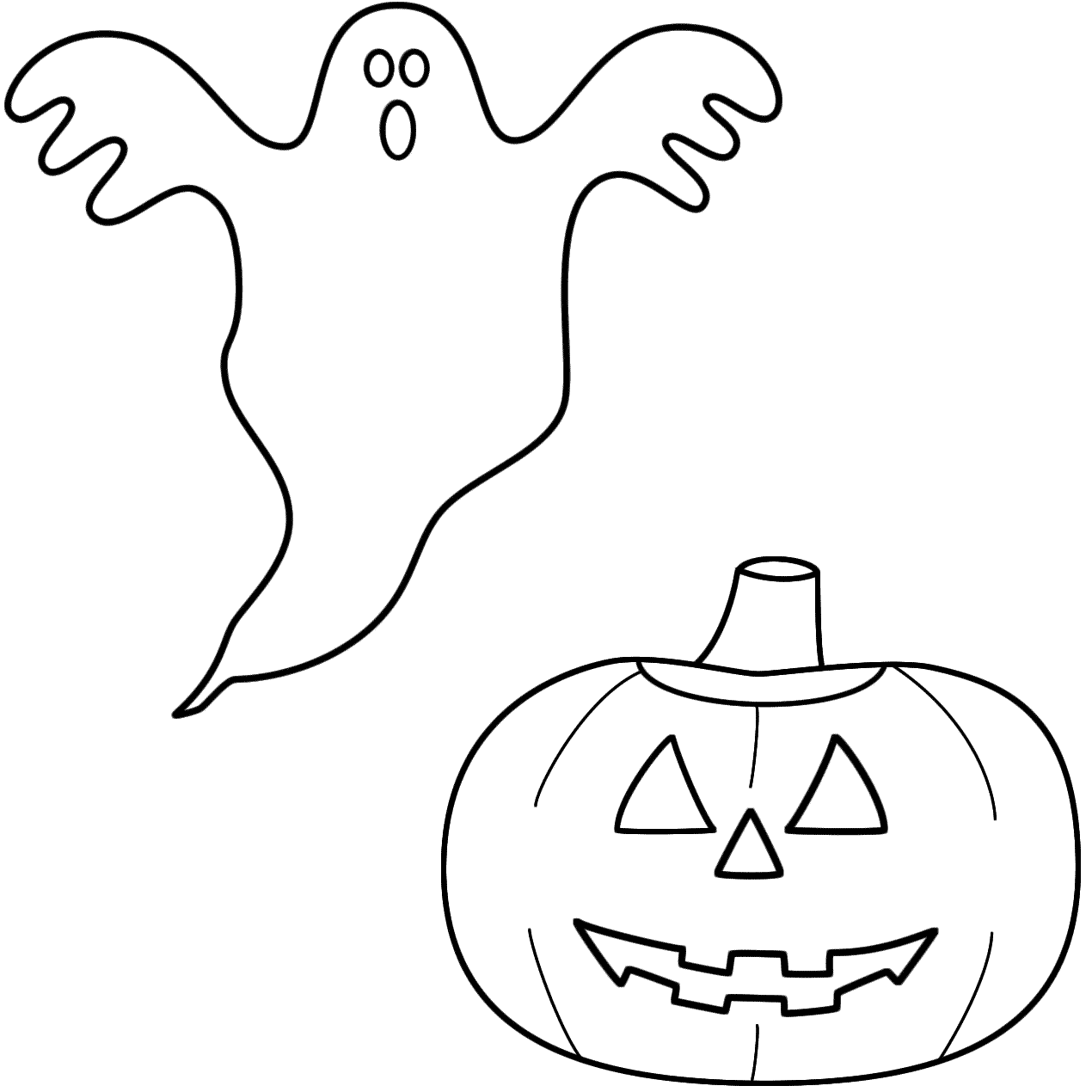 1270x1270 Drawn Ghostly Halloween Coloring