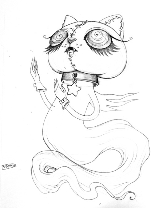 517x675 Art And News From Allison Bamcat Cat Ghost