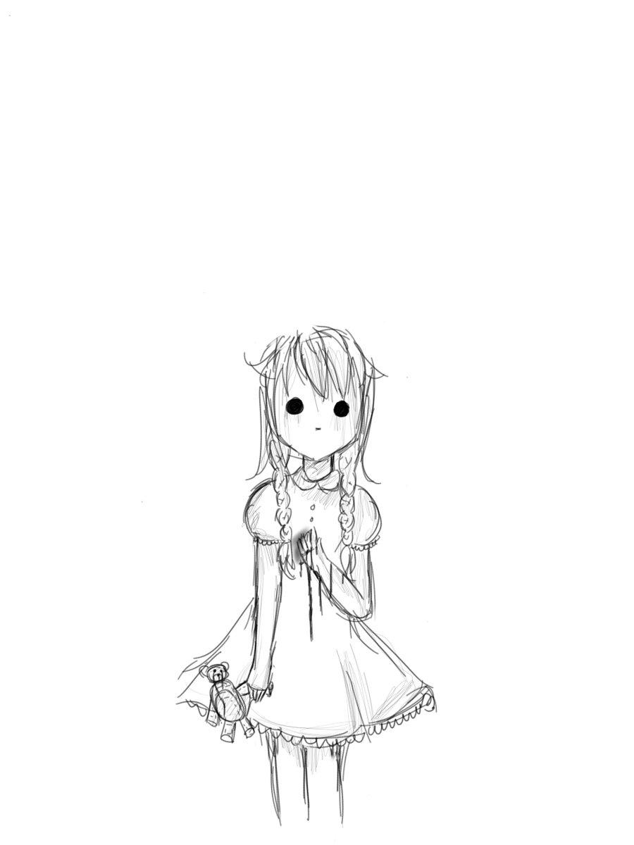 900x1200 Little Ghost Girl By Ieshaqalila1102