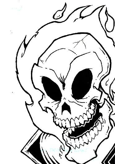 371x528 Sketch Card Ghost Rider By Vonblinden22