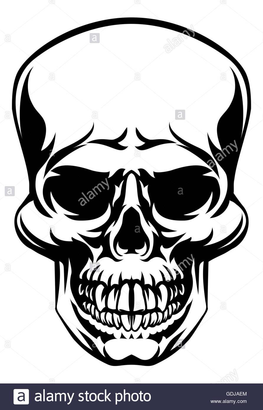 892x1390 A Skull Scary Skull Design Drawing Stock Photo 111656124