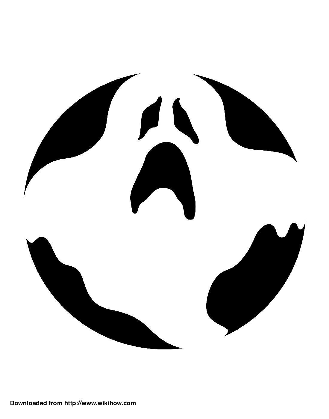 1099x1397 Printable Ghost Pumpkin Template Crafts Pumpkin