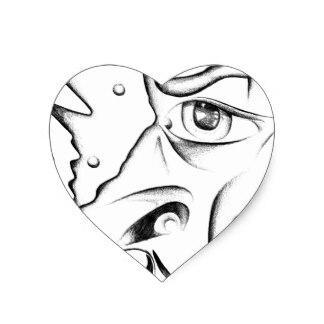 324x324 Draw A Face Stickers Zazzle