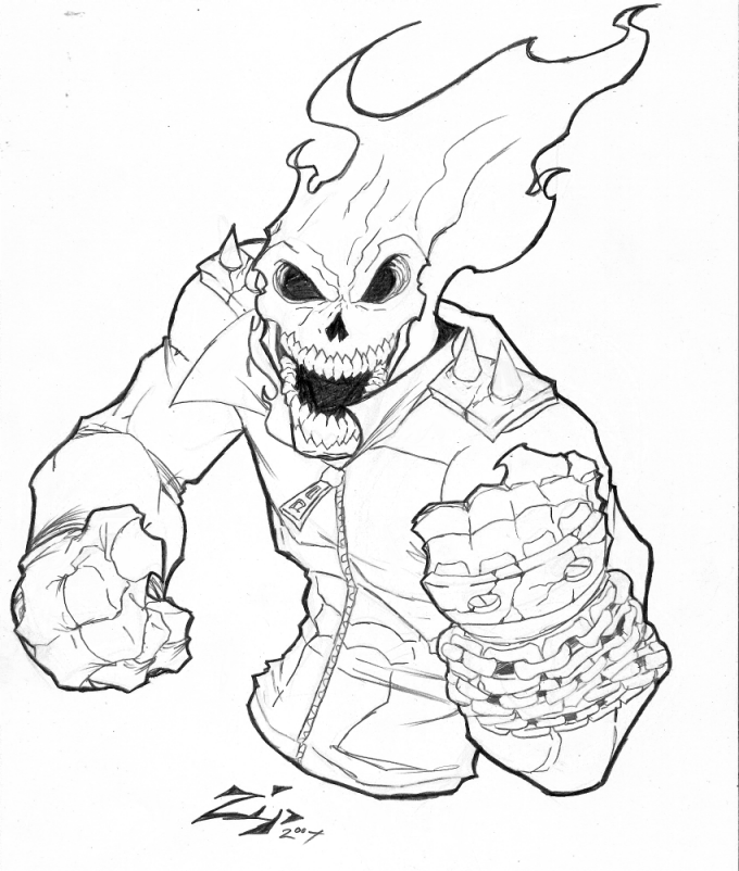 680x802 Ghost Rider Commission By Shadowmaginis