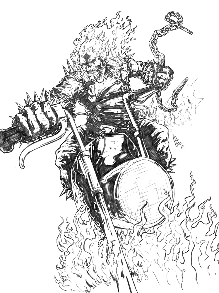 748x1000 Ghost Rider By Natelyon